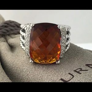David Yurman Wheaton Citrine Sterling Ring
